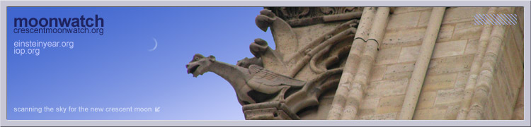 Gargoyle with crescent moon