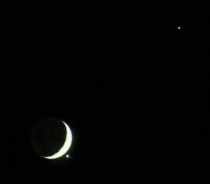Occultation of Venus on December 1st 2008 at 17:45 UT, Ash Priors, Somerset, UK
